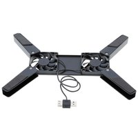 Wholesale High Quality Rotatable USB Fan Laptop Notebook PC Fans Cooler Cooling Pad Computer Peripherals Black