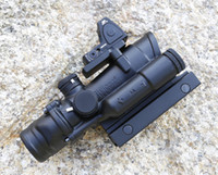 acog red dots - Trijicon ACOG x32 Red Illuminated Riflescope With Mini Red Dot