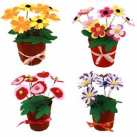 Wholesale New Hot Children Hand Toys Early Childhood Educational Toys D DIY Non woven Artificial Flower Pot