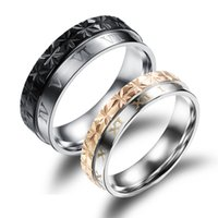 avant garde steel - Jewelry new M word Creative color trend of the avant garde creative titanium steel rings couple rings GJ456