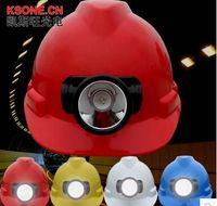 Wholesale Charging head lamp safety helmet Charging LED headlamp safety helmet Head lamp cap miners A miner s lamp miner s helmet