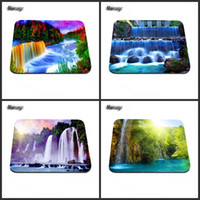 beautiful landscape photography - A beautiful waterfall landscape photography game mouse pad rubber non slip decoration and computer peripherals can be used as a gift