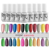 Wholesale 204pcs Top Quality Long lasting Colors soak off gel polish nail UV gel lacquer varnish for gelish nail polish uv gel Colors ml free DHL