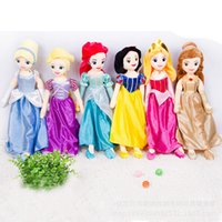belle doll - 67cm Soft Plush Stuffed Princess Rapunzel Snow White Ariel Aurora Beauty and the Beast Belle Cinderella Princess dolls for Girl Gift