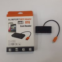 Wholesale BOHAI HDTV Adapter SD Micro SD Card Reader for SlimPort and OTG enabled phones tablets Black