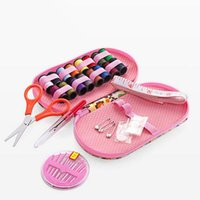Wholesale 50set DIY Needle Tape Scissor Disconnector Release Multifunction Threads Sewing Kits Portable Useful Travel Home Sewing Tools