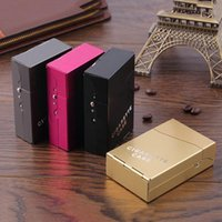 Wholesale pc Aluminum Metal Cigarettes Holder Portable Cigars Tobacco Storage Case Pocket Box For Cigarette Storage