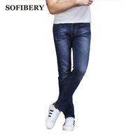 best blue jeans for men - SOFIBERY Denim Stretch Jeans Trouser Size Casual Fashion Denim Blue Slim Straight Brand Best Jeans for Men M479
