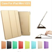 Wholesale Luxury Ultra Slim Smart Flip Stand PU Leather Cover Coque for Apple IPad Mini Cases and Covers for I Pad Ipadmini Fundas