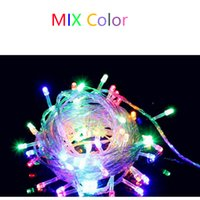 Wholesale Christmas LED String Light Holiday Sale colors m m m Xmas Led Christmas Wedding Party Decoration Lights V