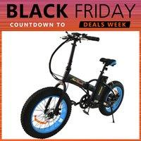 beach electric - Addmotor MOTAN Electric Bicycle Blue Fat Tire Folding Electric Bike For Beach Snow All Terrain W V Foldaway M Folding E Bike