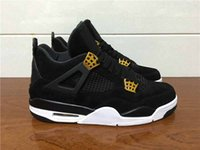 air stars - Drop Shipping Air Retro Royalty Black Suede Black Gold Men Basketball Sport Shoes Ship With Box