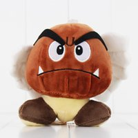 Wholesale Super Mario Bros Plush Characters - 14cm Super Mario Bros Goomba Plush Toy Soft Plush Stuffed Doll for kids Christams gift free shipping retail