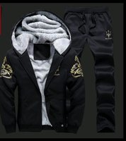 Wholesale 2016 new men s sports and leisure Set Europe and the United States large yards plus velvet thickening
