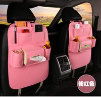 Wholesale car multifunctional storage bag backrest seat hanging car sling storage bag