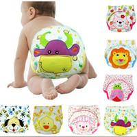Wholesale Abaodo newbron cotton diaper infant training pants cartoon style kids panties baby boys and girls underwear
