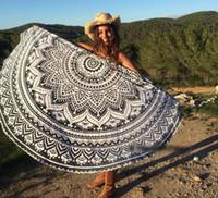 Wholesale HOT Mandala Shawl Wrap Yoga Mat Round Beach Towels Carpets Printed Tablecloth Bohemian Beach Towel Serviette Covers Design