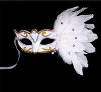 Wholesale Masquerade Mask Christmas Colored Feather Mask Halloween Birthday Party Women s Fashion Mask Stage Performances Supplies