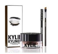 aa pots - Kylie Gel Eyebrow Liner BRAND NEW Kylie Jenner Kyliner In Black Brown With Eyeliner Gel pot Brush set eyeliner brush cream aa