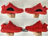 Cheap 2017 Original Adidas Yeezy 350 Boost Sneakers Casual Shoes Sports Red October Womens Mens Running Shoes Kanye West Yzy 350 Yeezys Boosts