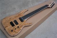 ash burl - Custom new frets Ash Body Natural Wood Burl Top Blackmachine B7 Special Shape Strings Electric Guitar