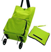 Cheap 600D Oxford Foldable Grocery Shopping Trolley Bag With Wheels