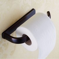 Wholesale Antique Oil Rubbed Bronze Solid Brass Toilet Paper Holder Roll Hanger Lavatory Bathroom Accessories Wall maounted