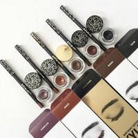 Wholesale 4 Colors Kylie KYLINER KIT Eyeliner Pencil Eye Liner Gel Eyeshadow Brush in Set