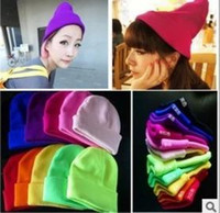 basic gardening - Christmas Hot Winter Basic Candy Color Vogue Skullies Beanies Hats For Men And Women Gorros Mujer De Lana Toucas De Inverno Bonnet
