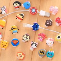 Wholesale Kawaii D Minions Silicone Cable Saver USB Charger Charging Cable Earphone Wire Cord Protector Universal For iPhone Plus iPad iPod Samsung