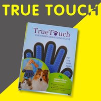 Wholesale True Touch Five Finger Deshedding Glove Pet Grooming Dogs Bath Glove Making Pets Hair Cleanup For All Dogs Cats h108