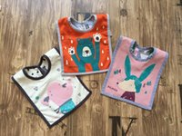 baby bibs manufacturers - Cute Baby square four square baby bib Bib baby double sided cotton towel towel manufacturers