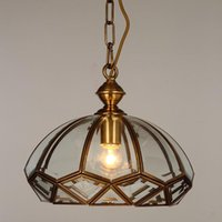 Wholesale European Style Copper Lamp Chandeliers For Dining room Balcony American Pastoral Style Stairs Light Modern Bar Light