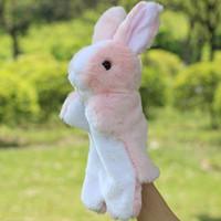 Wholesale 30CM Christmas Plush Baby Toys Rabbit Stuffed Animasl Boys Girls Finger Puppets Hand Puppet Toys for Children