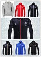 Wholesale 2016 Real Madrid Champions League jacket Hooded Real Madrid Champions League hooded jacket Top quality