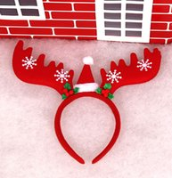 antler accessories - Christmas Gifts big Antlers Headband Head Angle Fluff Buckle Party Decoration Jewelry Items Christmas Decorations Dress Hair Hoop