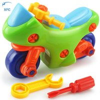 Wholesale XFC New Children Baby Diy Motorcycle Model Toy Puzzle Educational Toy Kids Gift