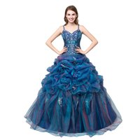Wholesale 2017 Ball Gowns Quinceanera Dresses In Stock Tiered Floor Length Formal dress Evening Prom dresses Quinceanera Dress With Spaghetti Straps
