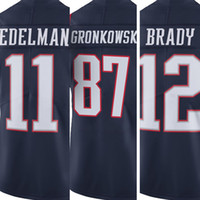 Wholesale Men s Tom Brady Jersey embroidery Logos Rob Gronkowski Julian Edelman Rush Limited American Football Jerseys Adult