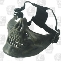 bi green - New Brand Half Face Skeleton Mask Field CS Tactics Terrorist Mask Dust And Bulletproof Military Must Be Outdoor Riding Outdoor Motorcycle Bi
