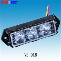 Wholesale VS L8 LED car Grill Lights CREE W LED flash pattern LED surface mount Strobe Warning Flashing Light waterproof IP68