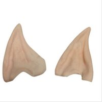 Wholesale Latex Fairy Pixie Elf Ears Cosplay Accessories LARP Halloween Party Latex Soft Pointed Prosthetic Tips Ear