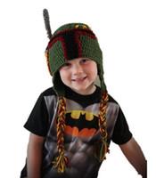 baby boba - Boba Fett Helmet Baby Boys Kids Caps Newborn Infant Toddler Crochet Knitted Hat Winter Beanie Children Hat Halloween Costume Christmas Gft