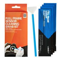 Wholesale Professional VSGO Full Frame Sensor Cleaning Swab Kit Pack DSLR Camera Sensor Swab CCD CMOS Lens Phone Screen Cleaning