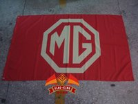 Wholesale MG red Flag x ft Polyester MG red banner