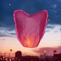 battery led lights paper lanterns - Outdoor Love Heart KongMing Sky Paper Lanterns Chinese Traditional Flying Wishing Lamp Light Wedding Party Decoration