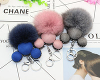 Wholesale Cute Mickey Ornament for Cell Covers cm Fox Fur Ball Pendant Cell Charms Cellphone Accessories Decorartion for Mobile Phones Case