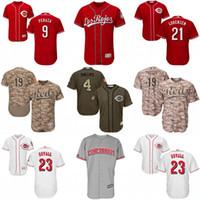 Baseball Men Short Mens Cincinnati Reds Jersey 6 Billy Hamilton 9 Jose Peraza 23 Adam Duvall 32 Jay Bruce 39 Devin Mesoraco Authentic Baseball Jerseys