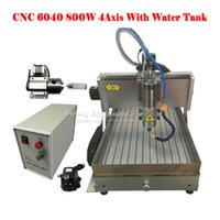 aluminium router - Russia tax free rotary axis desktop cnc router water tanks aluminium milling machine