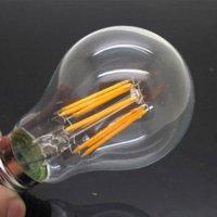 Wholesale 1X Led Lamp E27 W AC V Filament Bulb Edison Degree COB White Warm White Energy Saving Light